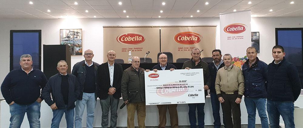 Cobella realiza una importante donación al Banco de Alimentos de Huelva, Cáritas y a Servicios Sociales